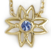 Image of Blue Sapphire Flower Necklace