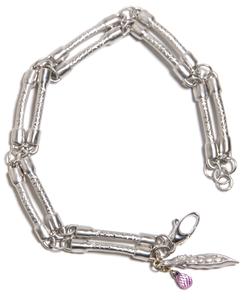 Image of White Gold Bone Bracelet