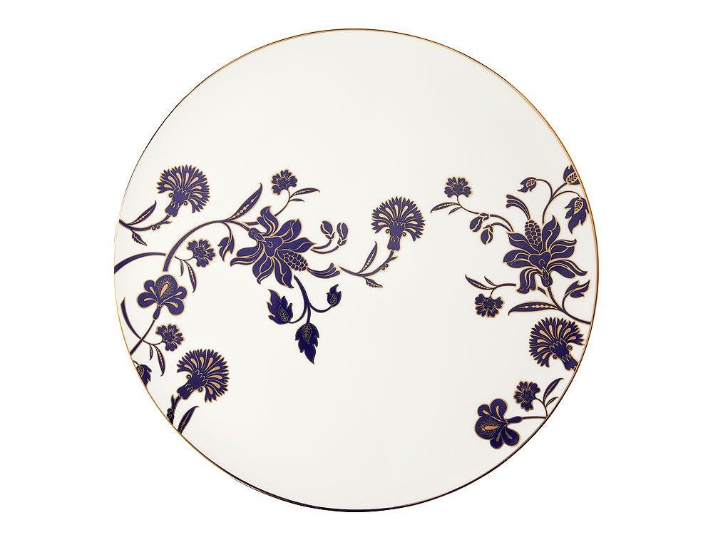 Image of Cake Plate 'Ananda' (Indigo Blues Collection)