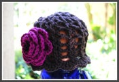 Image of Spring Bloom Hat - Chocolate/Raspberry