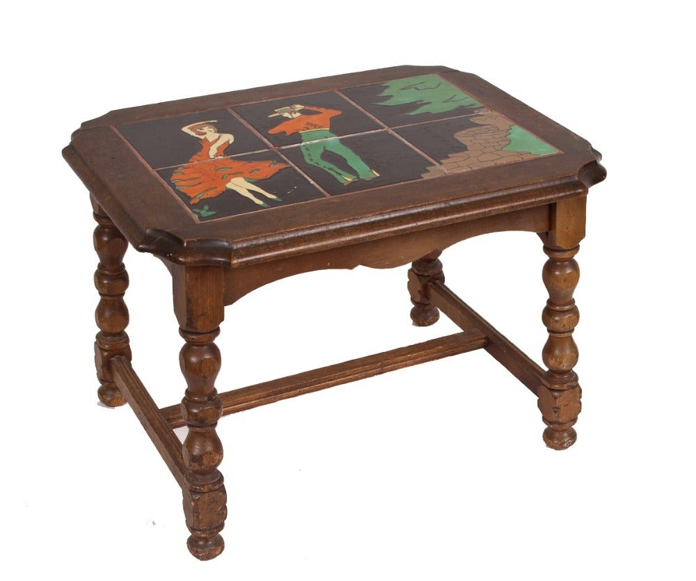 Image of Mexican Tile Top Side Table
