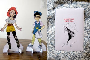"Image of ""KOKO BE GOOD"" paper dolls"