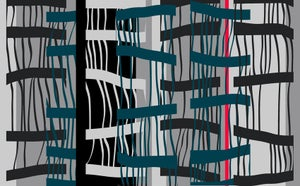Image of Bamboo 2 (Digital print on cotton twill)
