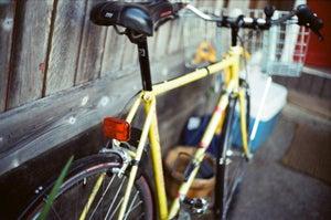 Image of yellow bike, 5x7 print