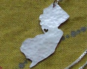 Image of New Jersey State Necklace