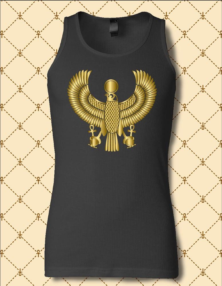 Image of Men's Custom Heru Gold Foil Tank Top