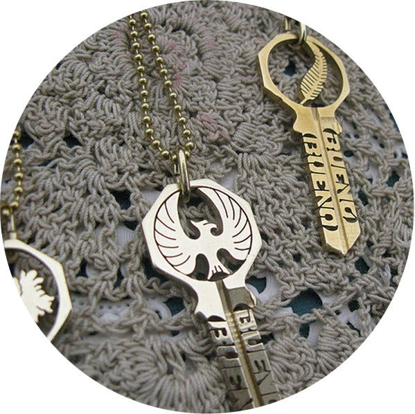 Image of KEY NECKLACE /// FIREBIRD