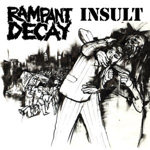 "Image of Insult / Rampant Decay Split 7"""
