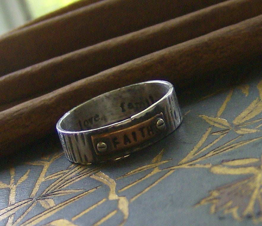 Image of Hardwear ring sterling silver and copper personalized ring