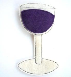 Image of Wine Glass Organic Catnip CAT TOY Handmade by Oh Boy Cat Toy