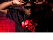 Image of Pure Flowz Apparel Male - Black Tee - Red Design: