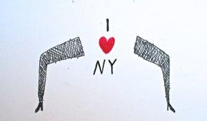 Image of I heart NY drawing by Daniel Smith