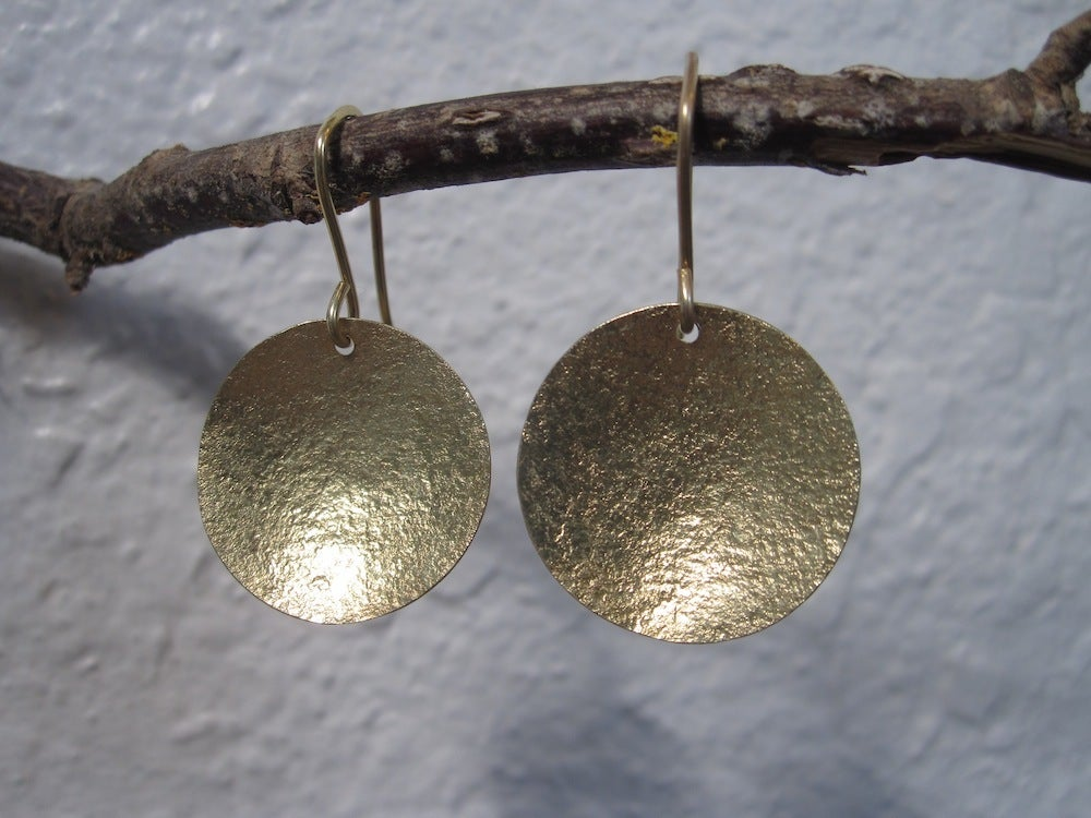 Image of 14kt Gold Disc Earrings