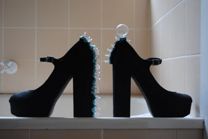 Image of Forever 21 Hand beaded Mary Jane Heels