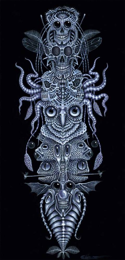 """Image of SPINAL TOTEM TATTOO ~ 12 x 24"""" SPECIAL Signed Edition"""