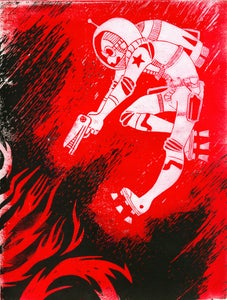 Image of Space Man - Colour -Original Print