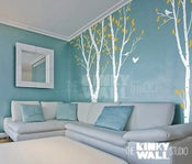 Image of Vinyl Wall Sticker Decal Art- Birch Trees Forest - 101 in set of 3 trees - kk108 -