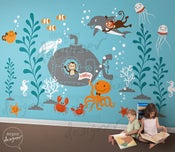 Image of New Design - Underwater Theme Decal Stickers for Nursery Kids Room - dd1057