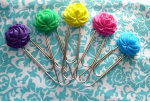 Image of Ruffled Rose Bookmark {2 for $8}