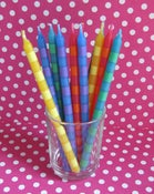 Image of Tall Striped Candles
