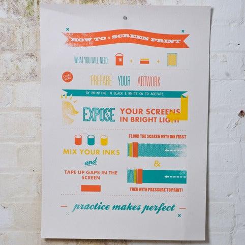 Image of 'How To: Screenprint' paper print