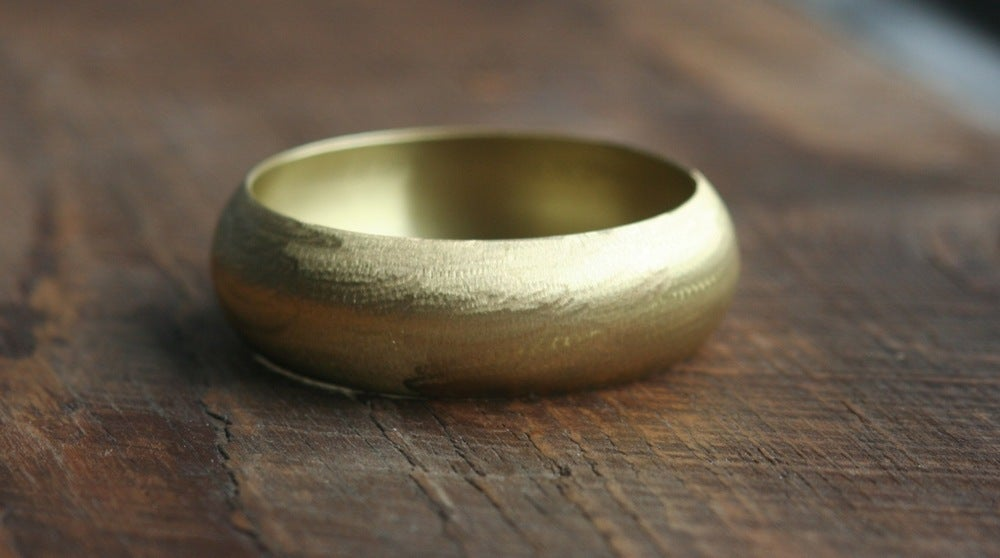 Image of Big round brass bracelet