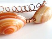 Image of Bracelet  Copper Wirewrap Carnelian Eyebeads