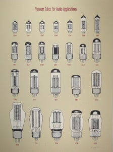 Image of Vacuum Tubes for Audio Applications - Art Print