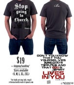 """Image of """"Stop Going to Church...Be"""" Tee"""
