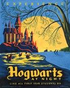 """Image of Hogwarts at Night 18""""x22.5"""" print"""