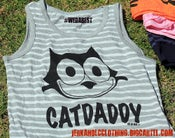 Image of NEW STRIPED GREY CATDADDY TANK TOP