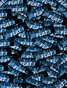 Image of Global-Flat Stickers Black