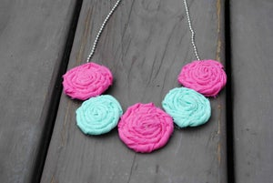 Image of Pink Seafoam Rosie Necklace