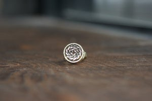 Image of Brass Pipe forge ring with spiral