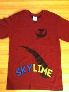 Image of Girl In Space Shirt (Burgundy)