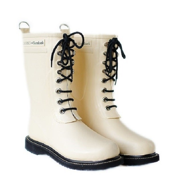 Image of Ilse Jacobsen Rubber Boots - Mid Calf, Beige