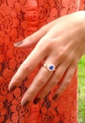 Image of Dark Blue Stone Ring