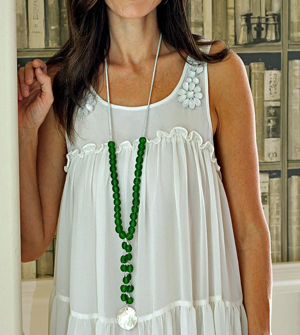 Image of Chunky Bead Necklace, Green