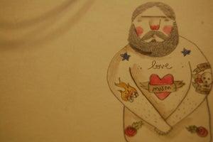 Image of Love mum Tattoo watercolour