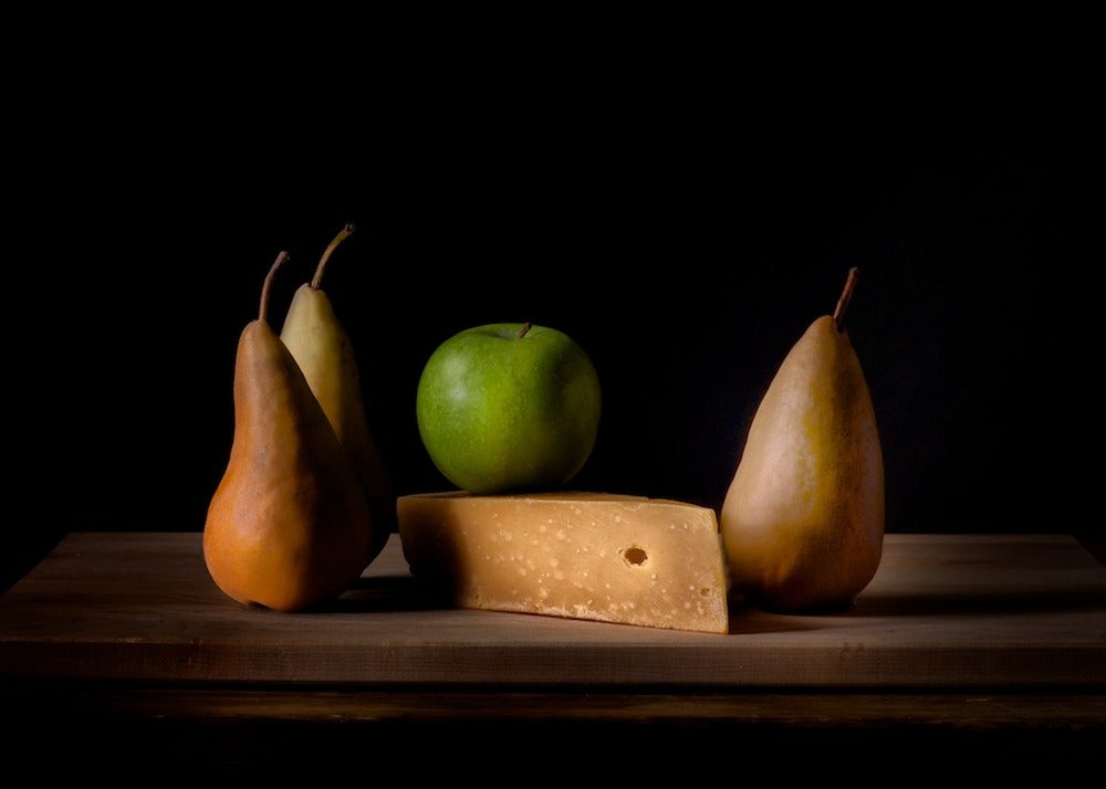 Image of Bosc pears, Granny Smith apple, Aged Gruyere cheese