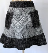 Image of Half Apron {Black & White}