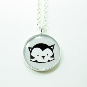 Image of Black Cat Necklace