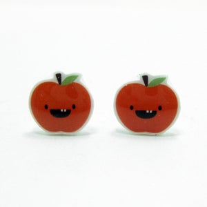 Image of Apple Earrings - Sterling Silver Posts