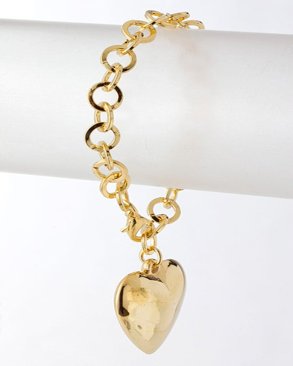 Image of Heart Charm Bracelet