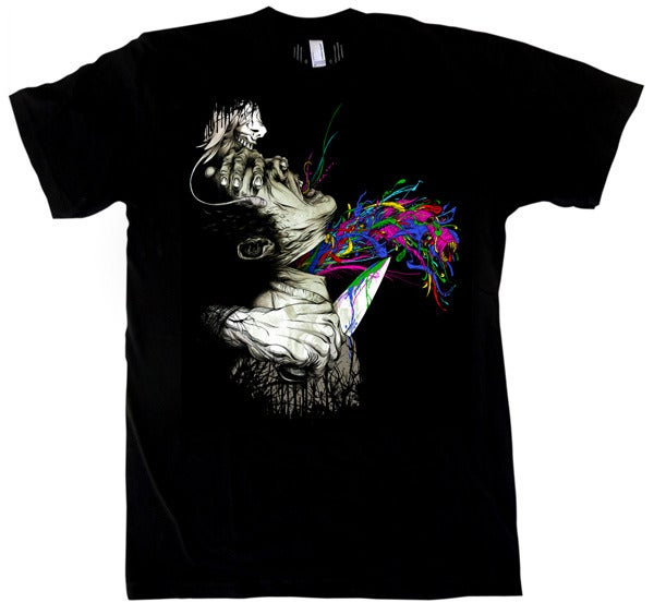 Image of Escaped Conviction | by Alex Pardee | T Shirt