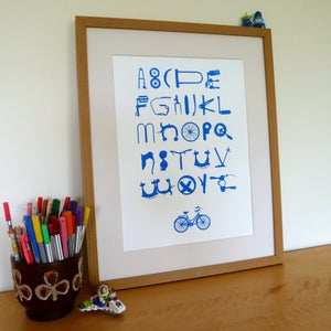 Image of Bike Type Screenprinted Poster