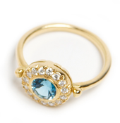 Image of Diamond and Aqua Ring