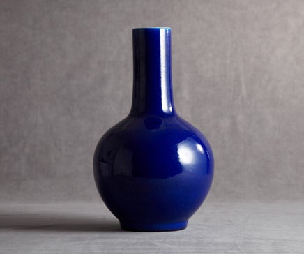 Image of Deep Royal Blue Chinese Porcelain Vase BC-050