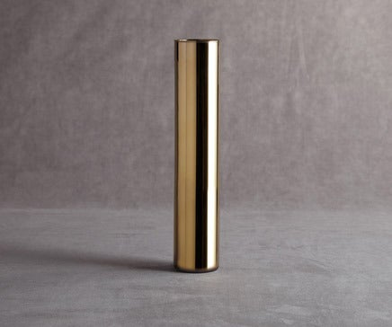 Image of Golden Glass Cylindrical Vase BC-066