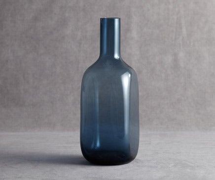 Image of Vintage Marine Glass Handblown Vase BC-077
